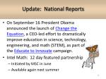 update national reports