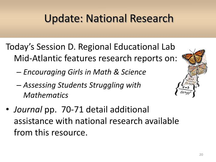 Update: National Research