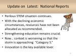 update on latest national reports1