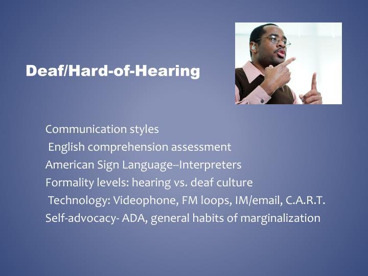 Deaf/Hard-of-Hearing