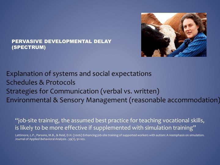 Pervasive Developmental delay (spectrum)