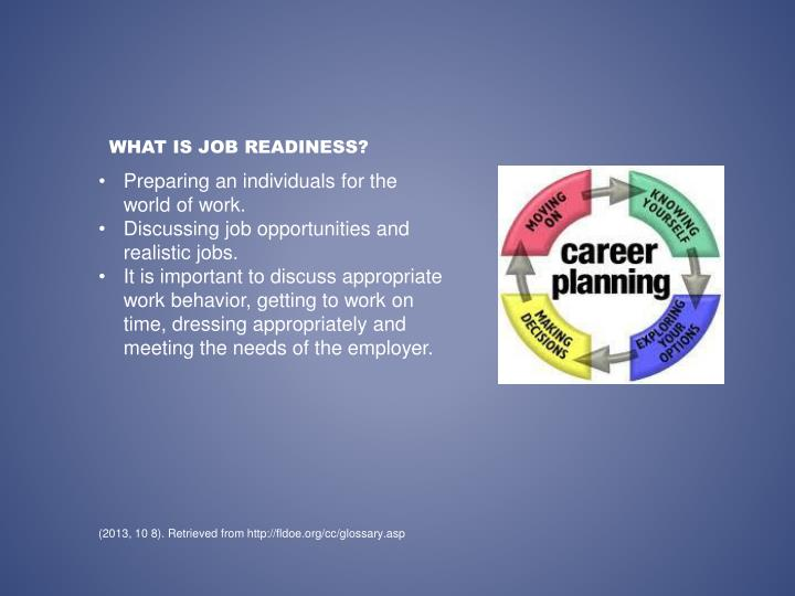 What is job readiness