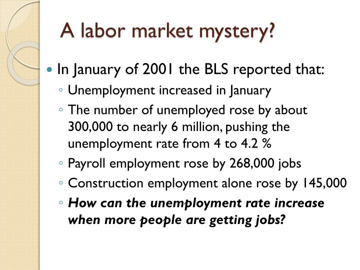 A labor market mystery?