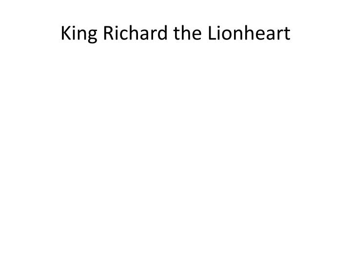 King Richard the