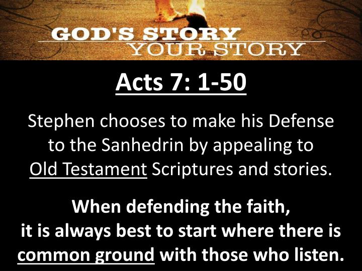 Acts 7: 1-50