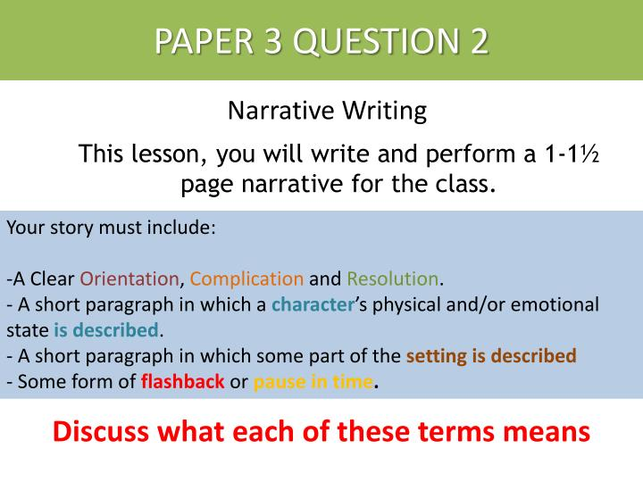 narrative essays with questions Get an answer for 'how can i write a narrative essay, and what are the steps to forming a narrative essay' and find homework help for other essay lab questions at enotes.