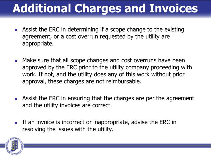 Additional Charges and Invoices