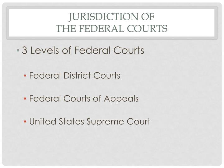 JURISDICTION OF