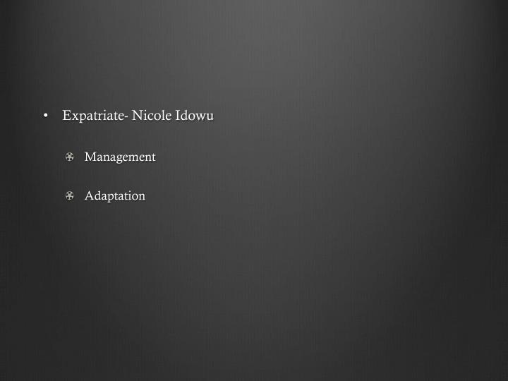 Expatriate- Nicole