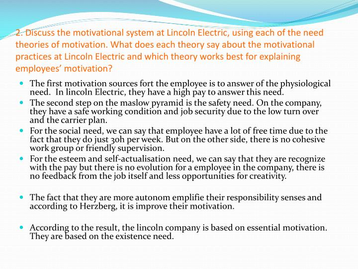 an analysis of the lincoln electric company In 1895, john c lincoln founded the company with a capital investment   management's discussion and analysis of financial.