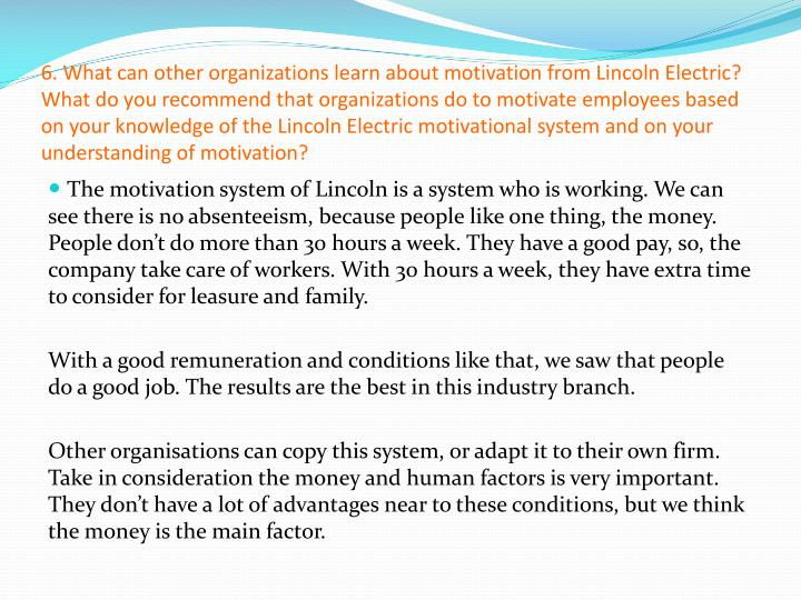case analysis lincoln electric Business analysis and strategies - lincoln electric company: harvard case study.