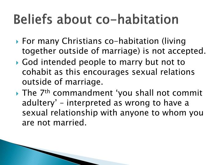 Beliefs about co-habitation
