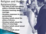 religion and human relationships