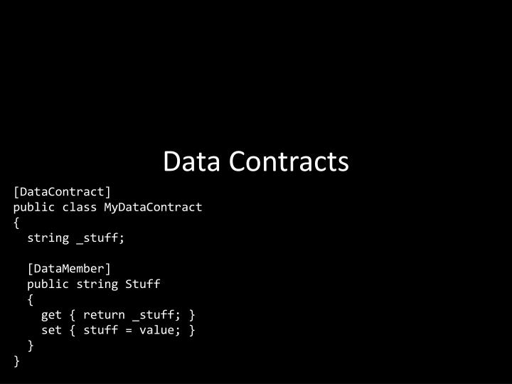 Data Contracts