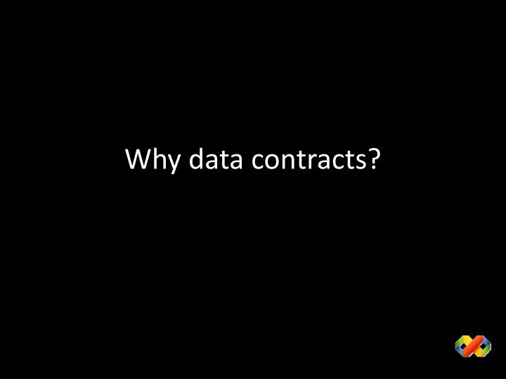 Why data contracts?