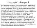 paragraph 1 paragraph