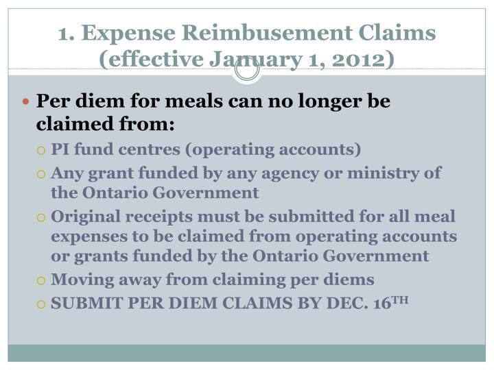 1. Expense
