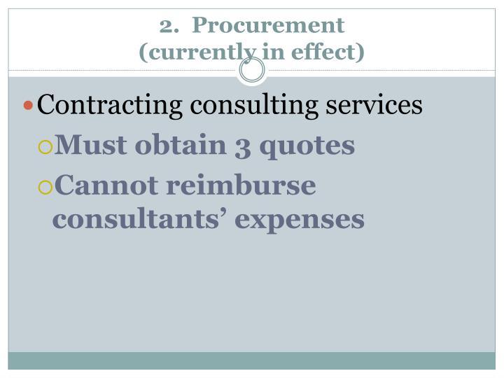 2.  Procurement
