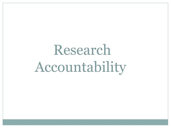 Research accountability