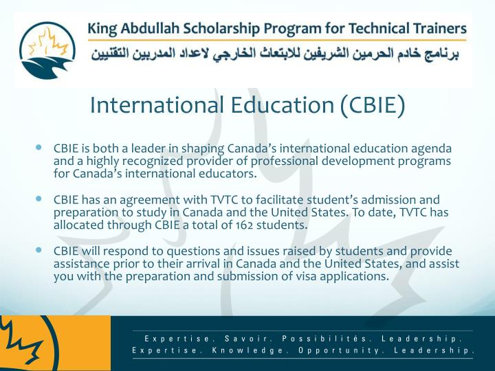 About the canadian bureau for international education cbie
