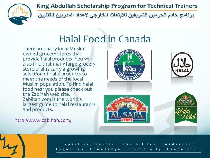 Halal Food in Canada