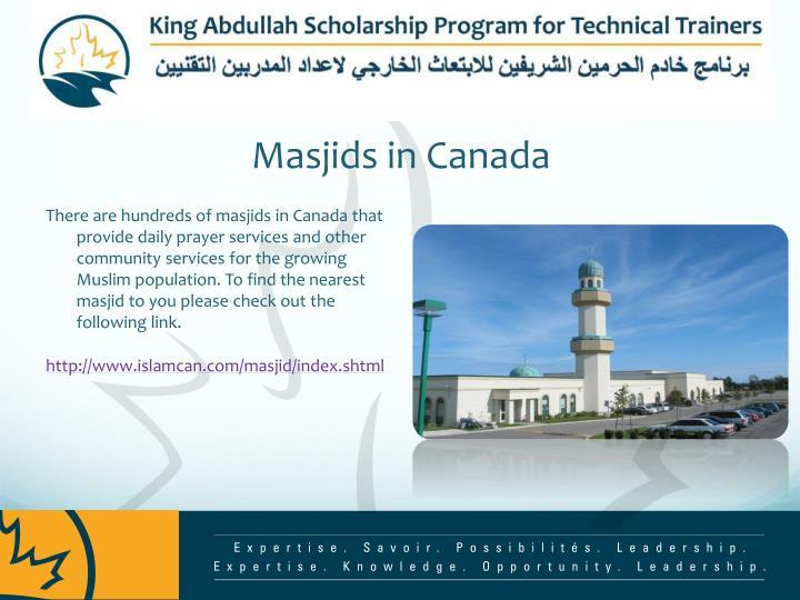 Masjids in Canada