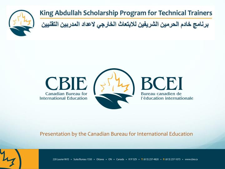 Presentation by the canadian bureau for international education