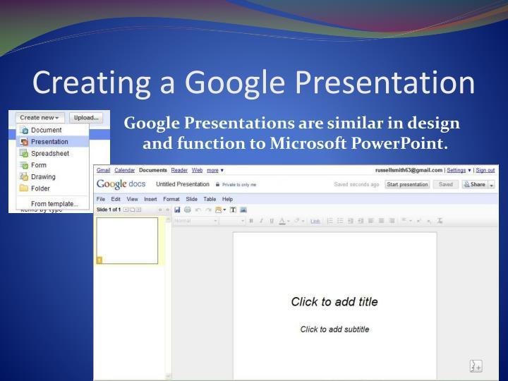 Creating a Google Presentation