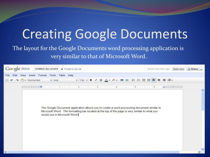 Creating Google Documents