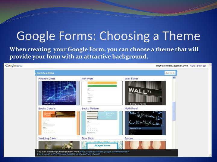 Google Forms: Choosing a Theme