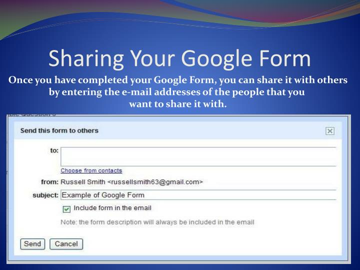 Sharing Your Google Form
