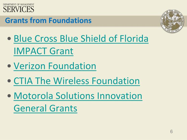 Grants from Foundations
