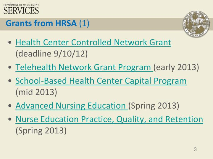 Grants from HRSA