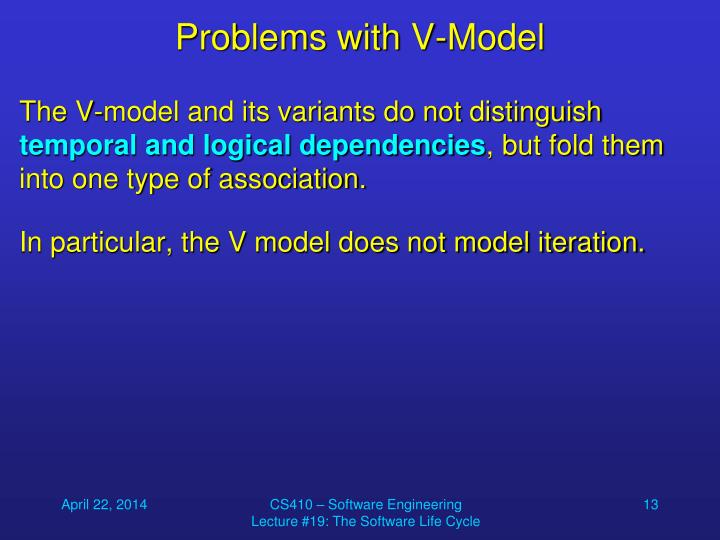 Problems with V-Model