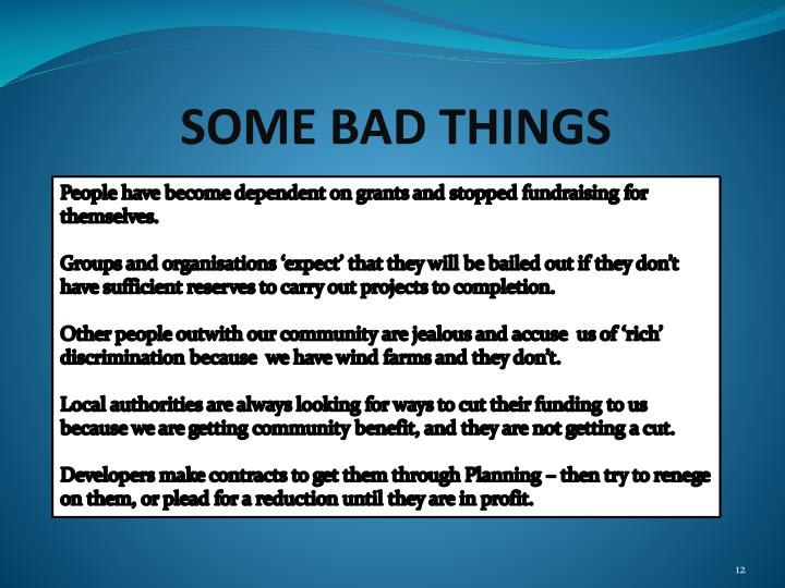SOME BAD THINGS