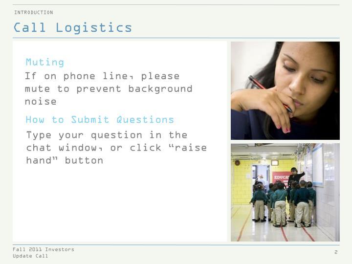 Call Logistics