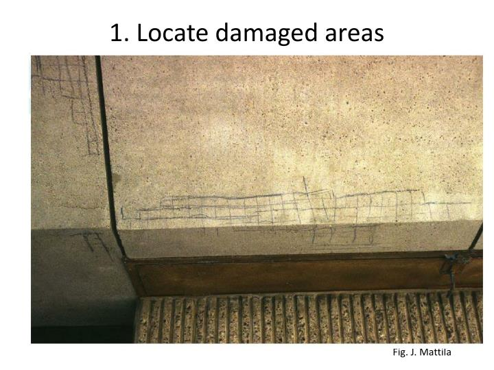 1. Locate damaged areas