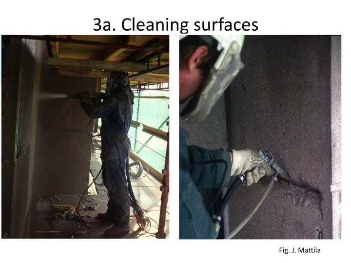 3a. Cleaning surfaces