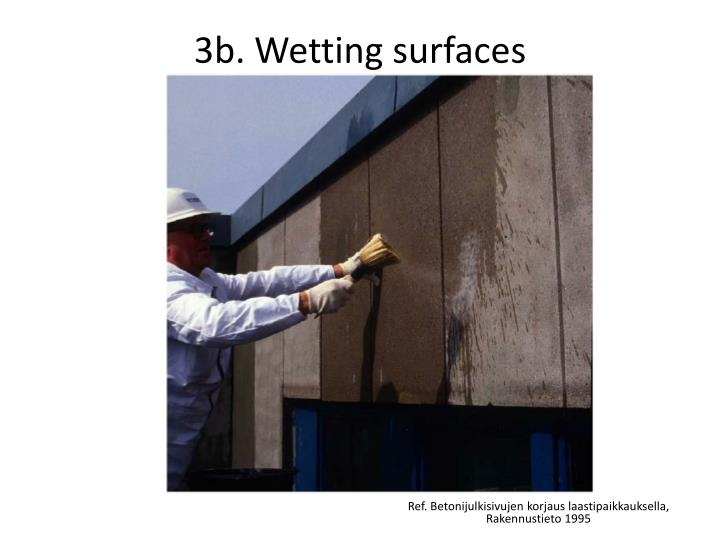 3b. Wetting surfaces