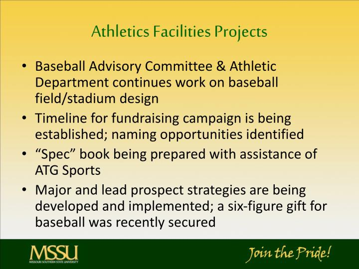 Athletics Facilities Projects