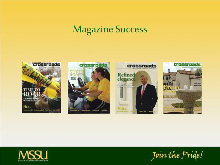 Magazine Success