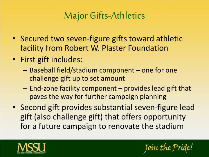 Major Gifts-Athletics