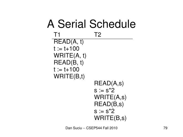 A Serial Schedule