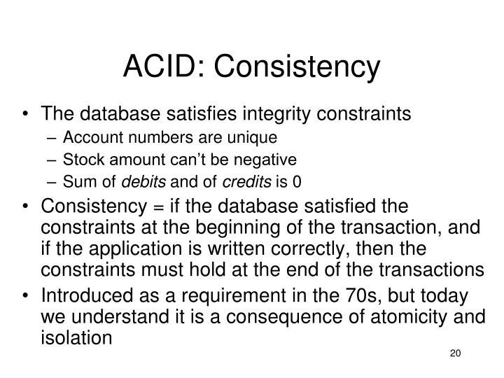 ACID: Consistency