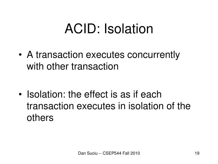 ACID: Isolation