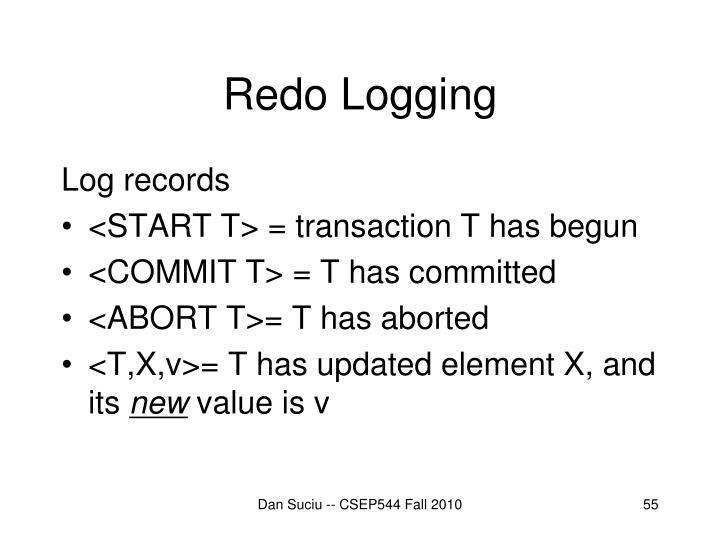 Redo Logging