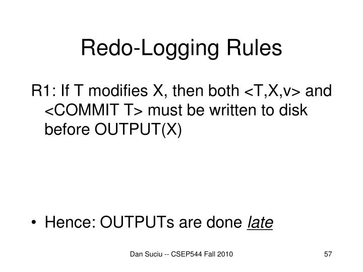 Redo-Logging Rules