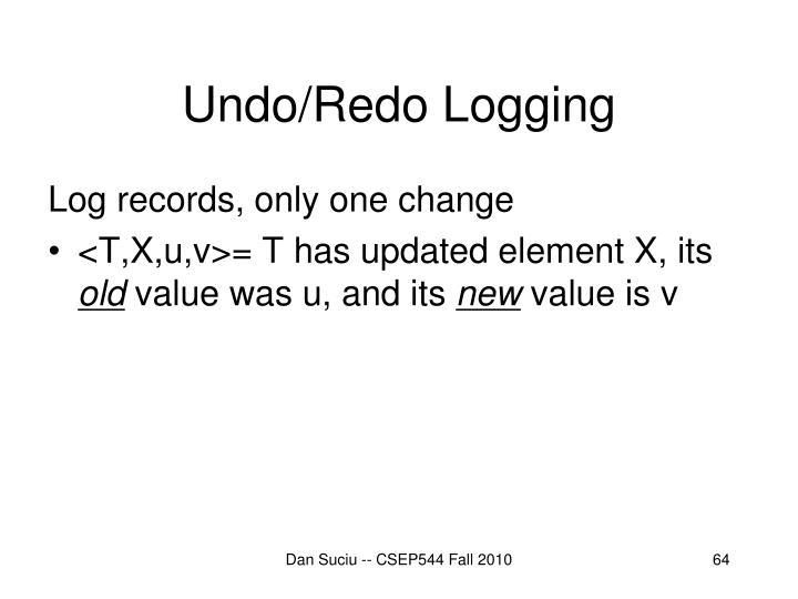 Undo/Redo Logging