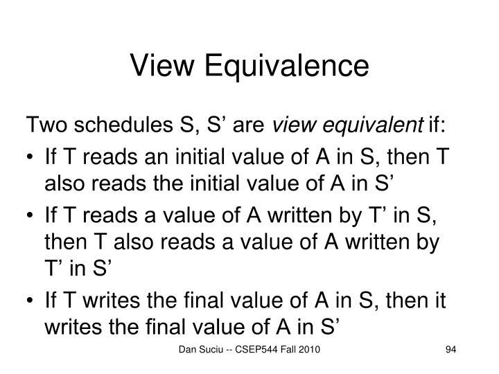 View Equivalence