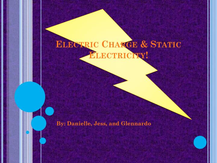 ppt electric charge amp static electricity powerpoint